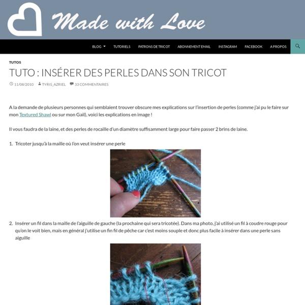 Tuto : insérer des perles dans son tricot