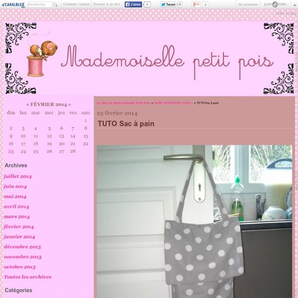 TUTO Sac à pain - Le blog de Mademoiselle Petit Pois
