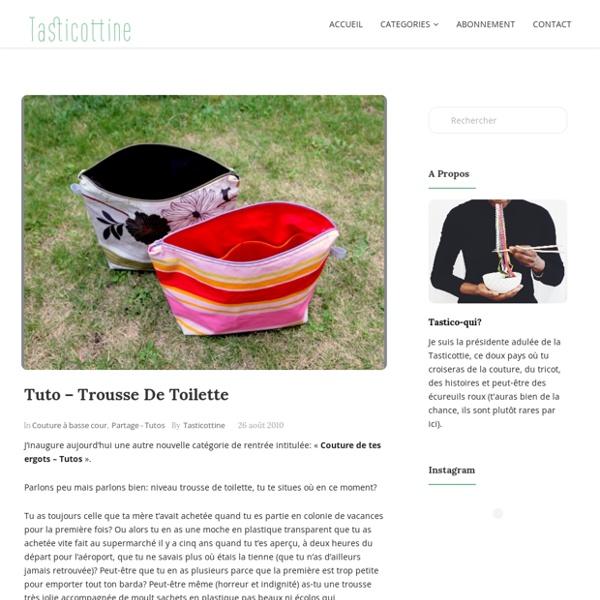 Tuto – Trousse de toilette