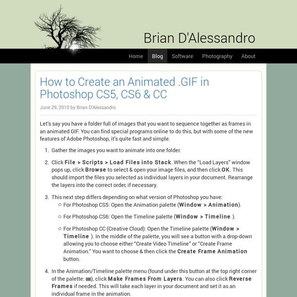 Tutorial to create an Animated GIF in Photoshop CS5 CS6 & CC