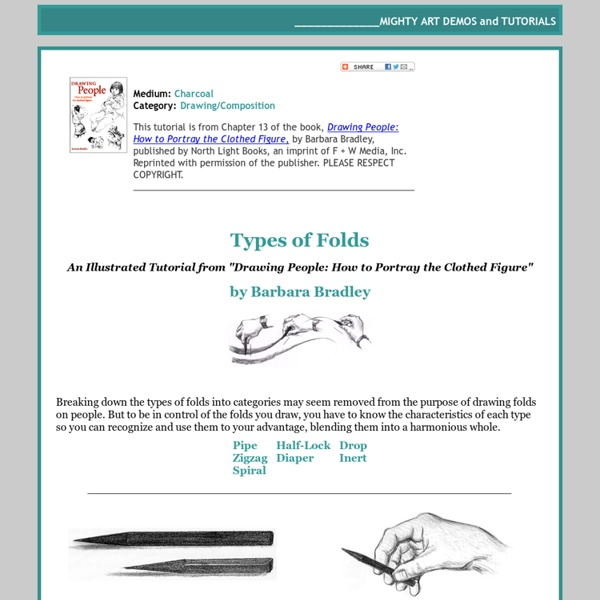 How to Draw Fabric Folds Tutorial by Barbara Bradley