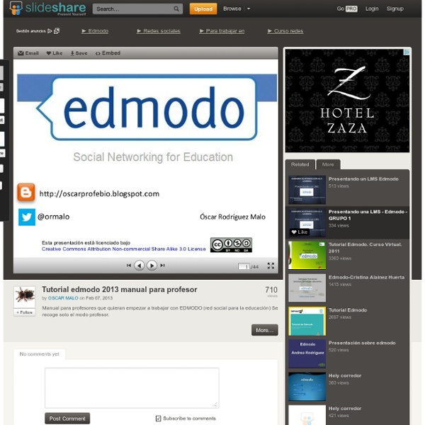 Tutorial edmodo 2013 manual para profesor