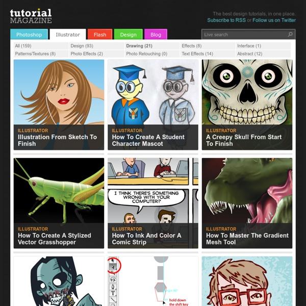 Tutorial Magazine / illustrator / drawing