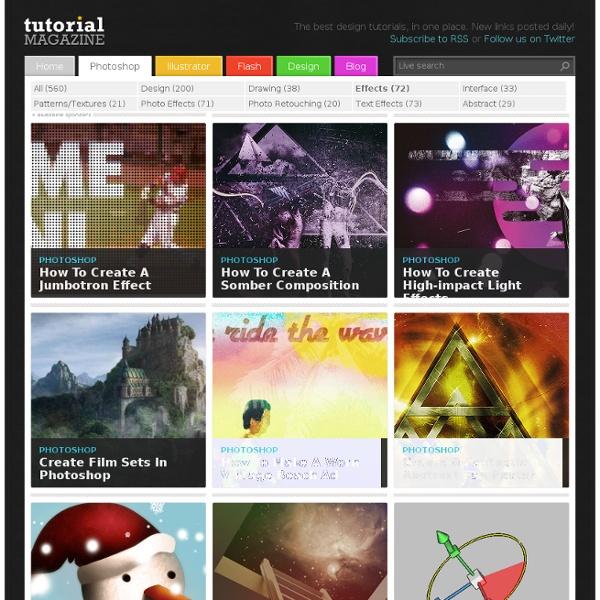 Tutorial Magazine / photoshop / effects