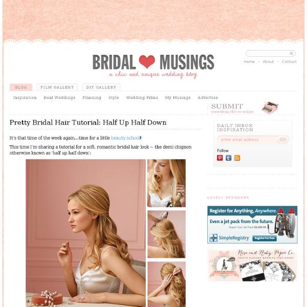 Pretty Bridal Hair Tutorial