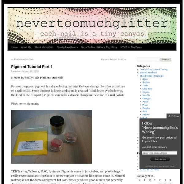 Nevertoomuchglitter's Weblog