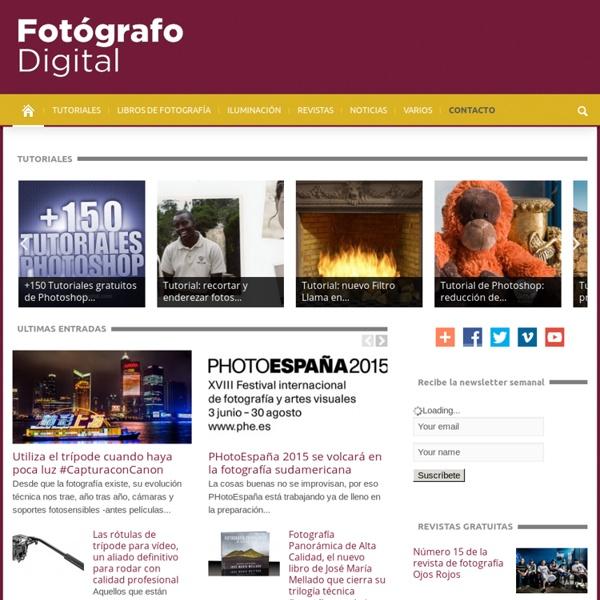 Todo sobre Fotografía, tutoriales Photoshop, libros de fotografía, revistas exposiciones…