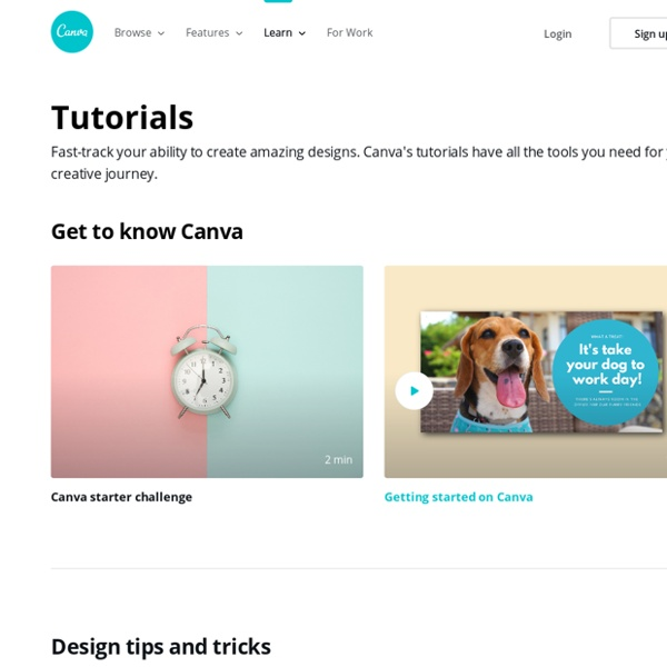 Canva Design School — Tutorials