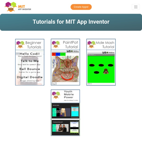 Tutorials for App Inventor