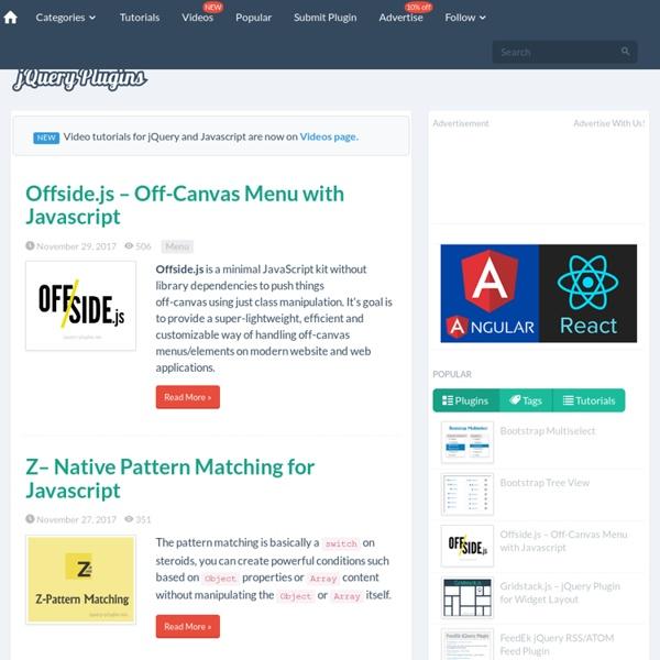 jQuery Plugins, jQuery Tutorials, jQuery Articles, jQuery Examples, jQuery Demos