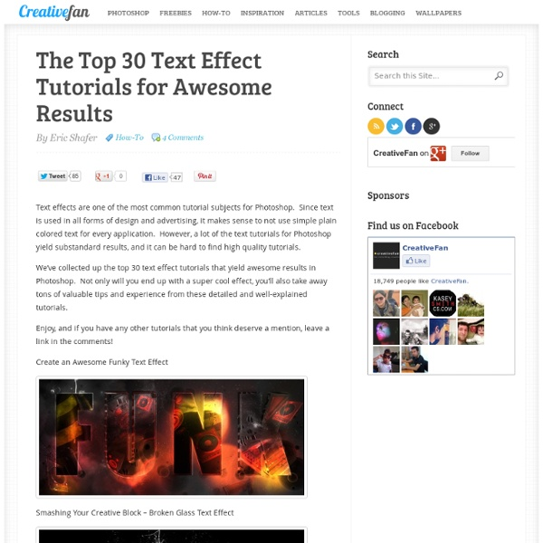 The Top 30 Text Effect Tutorials for Awesome Results