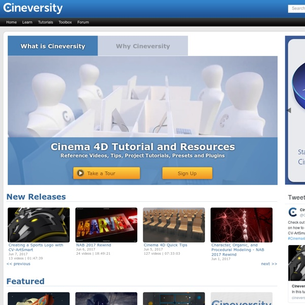 Cinema 4D Video Tutorials, Templates and Plugins - Cineversity