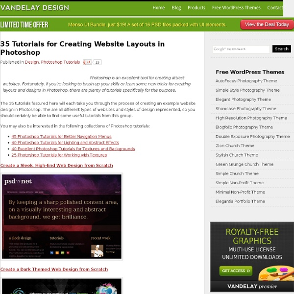 35 Tutorials for Creating Website Layouts in Photoshop