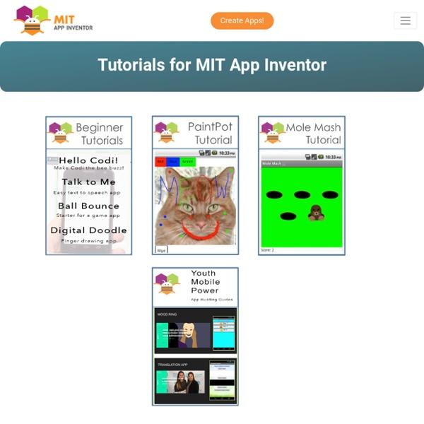 Tutorials for App Inventor