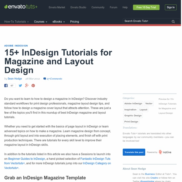 15+ InDesign Tutorials for Magazine and Layout Design