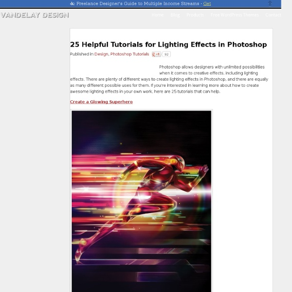 25 Helpful Tutorials for Lighting Effects in Photoshop