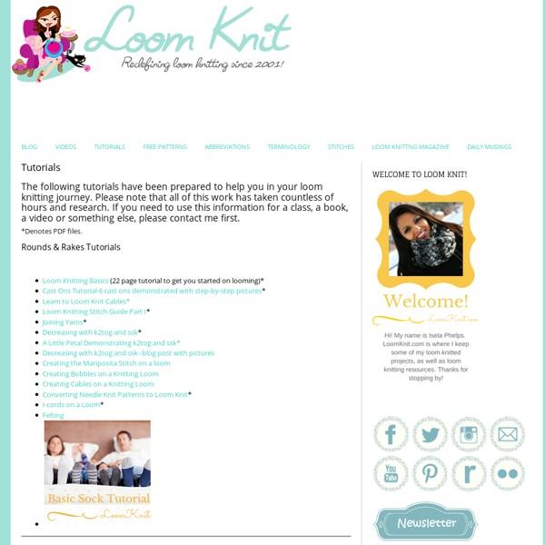 Tutorials - Loom Knitting