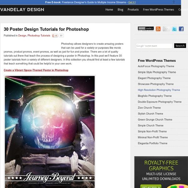 30 Poster Design Tutorials for Photoshop