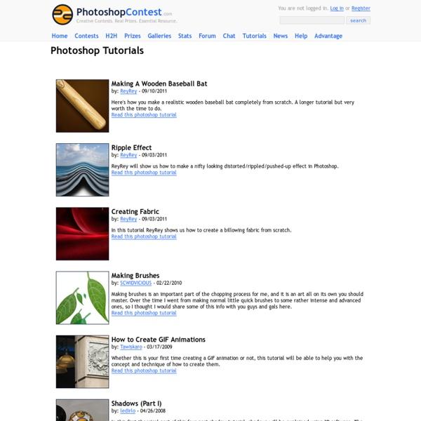 Tutorials - Photoshopcontest.com
