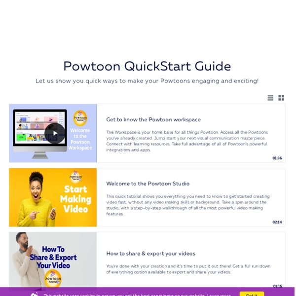 Tutorials for Powtoon online animated presentation software creator