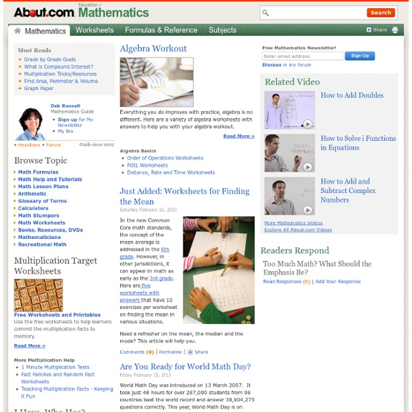 Math about.com | Pearltrees