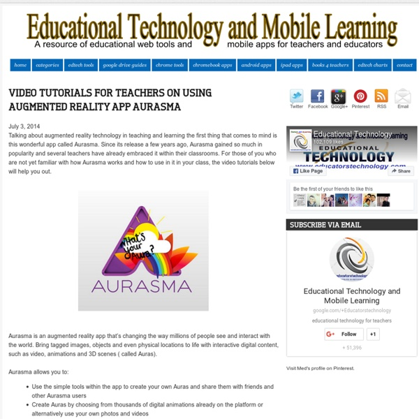 Educational Technology and Mobile Learning: Video Tutorials for Teachers on U...