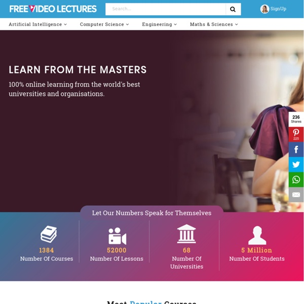 Free Video Lectures, Online Courses and tutorials from top colleges, universities