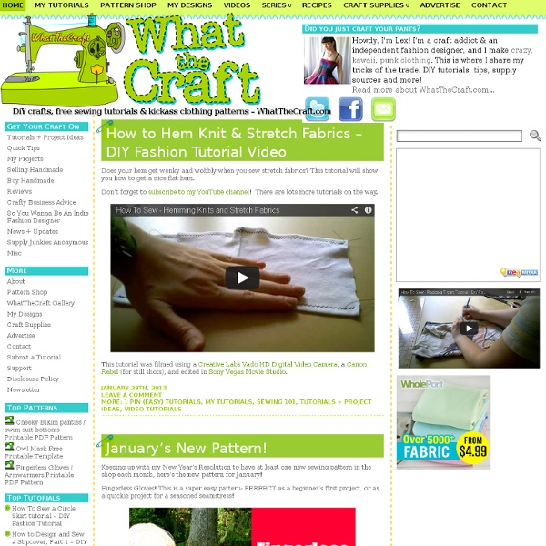 WhatTheCraft.com – Your one-stop destination for D.I.Y. tutorials, tips, and supplies