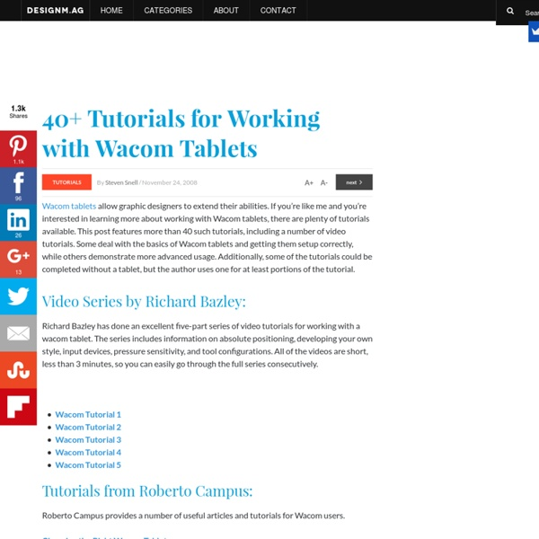 40+ Tutorials for Working with Wacom Tablets