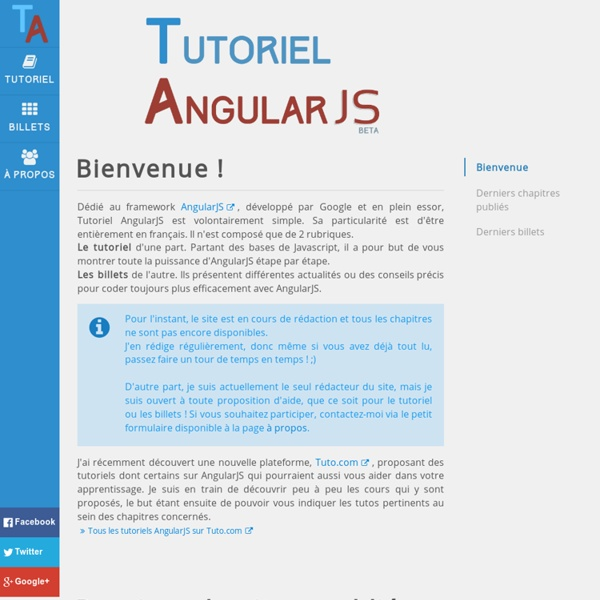 Tutoriel AngularJS
