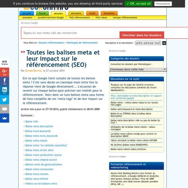 Tutoriel balises meta : guide complet en français