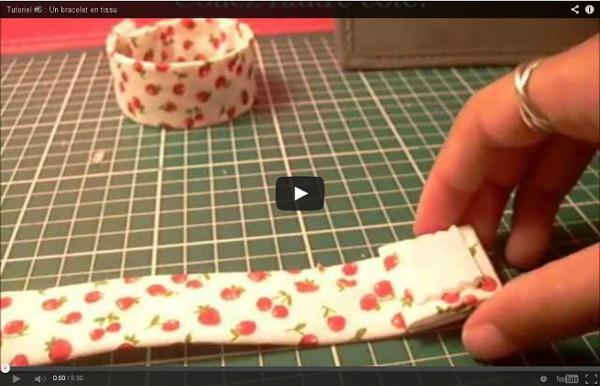 Tutoriel #6 : Un bracelet en tissu
