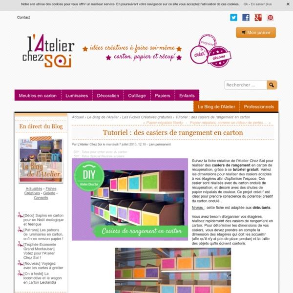 Tutoriel : des casiers de rangement en carton