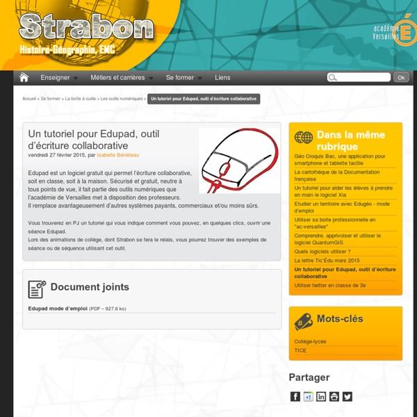 Un tutoriel pour Edupad, outil d'écriture collaborative