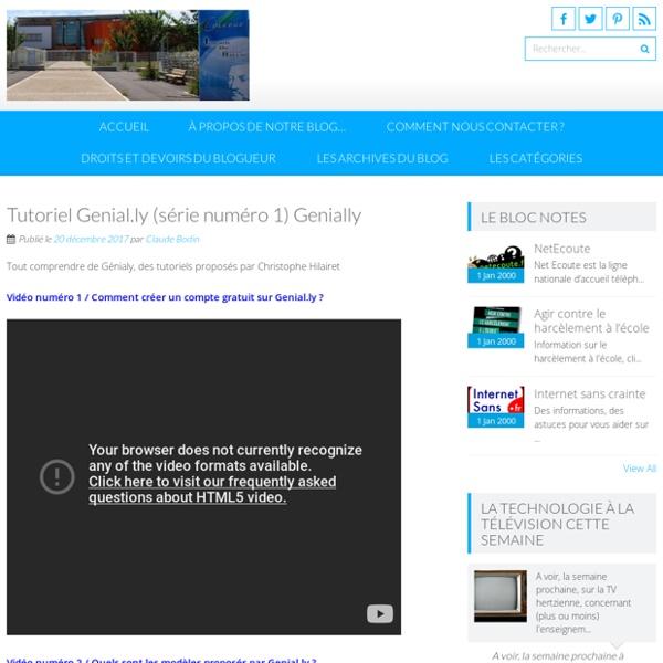 Tutoriel Genial.ly (série numéro 1)