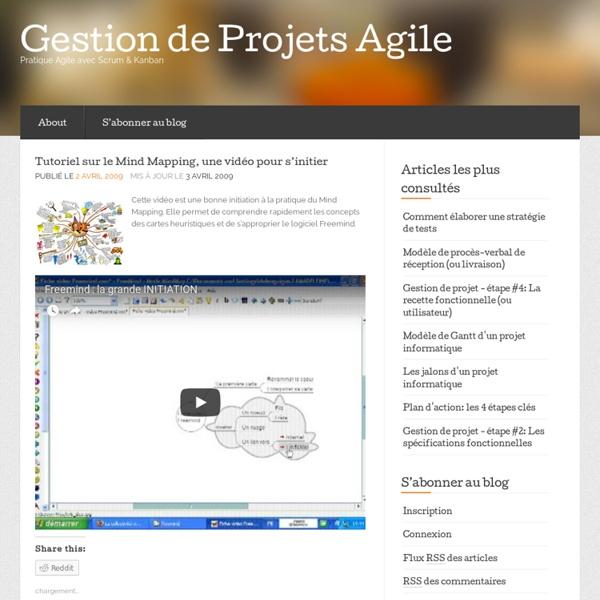 Tutoriel sur le Mind Mapping, une vidéo pour s'initier « Gestion de Projets 2.0