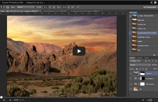 Tutoriel Photoshop CS6 - changer le ciel et sublimer le paysage - partie 1