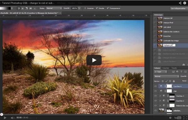 Tutoriel Photoshop CS6 - changer le ciel et sublimer le paysage - partie 2
