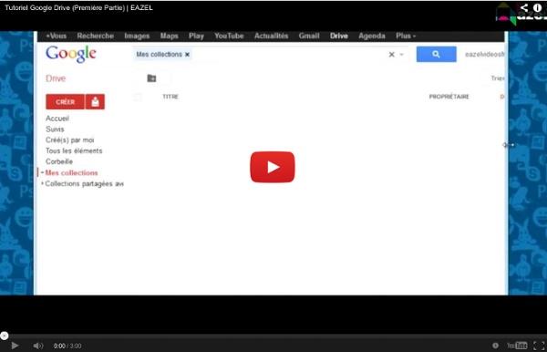 Tutoriel pour Google Drive
