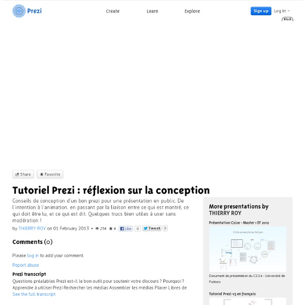 Tutoriel Prezi : réflexion sur la conception by THIERRY ROY on Prezi