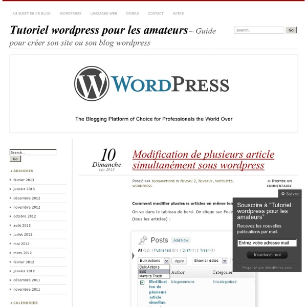 Guide pour créer son site ou son blog wordpress