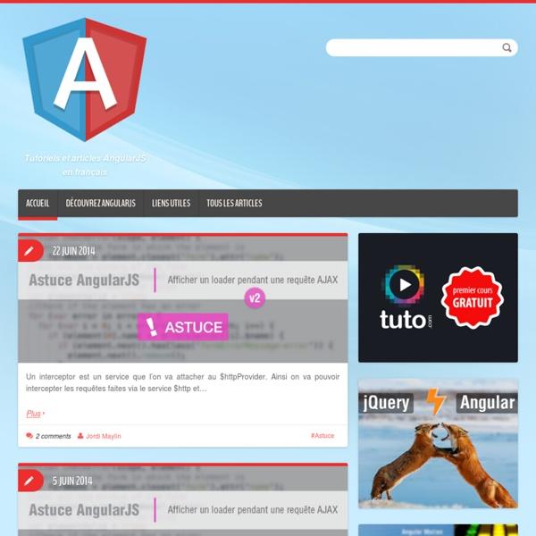 Tutoriels et articles AngularJS en français