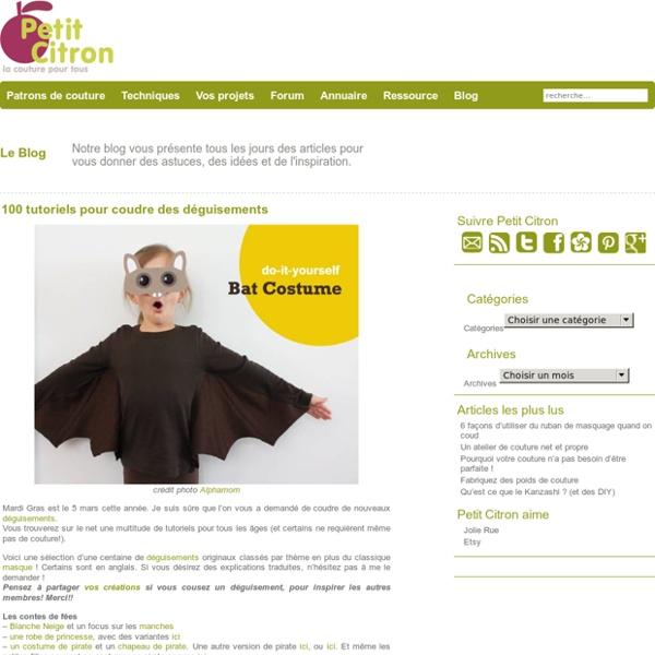 100 tutoriels pour coudre des déguisements