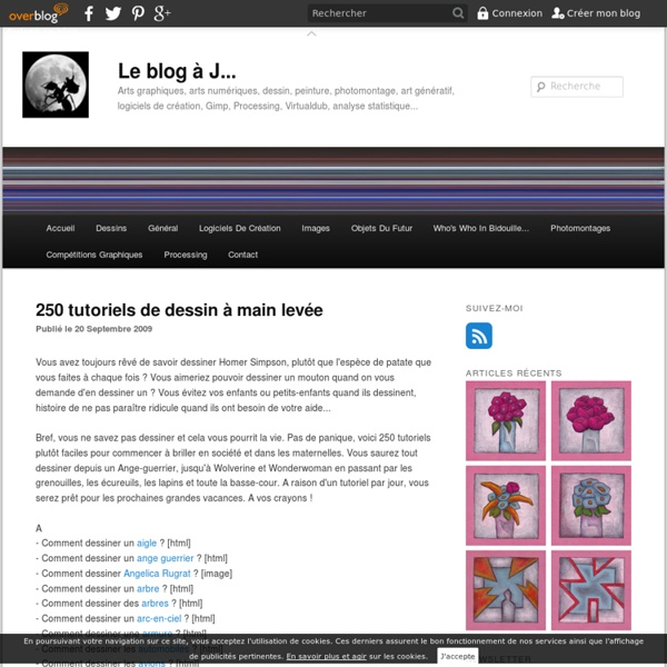 250 tutoriels de dessin à main levée