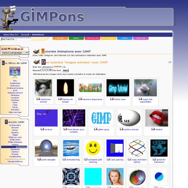 Tutoriels Animations avec GIMP