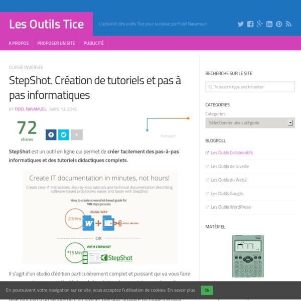 StepShot. Création de tutoriels et pas à pas informatiques