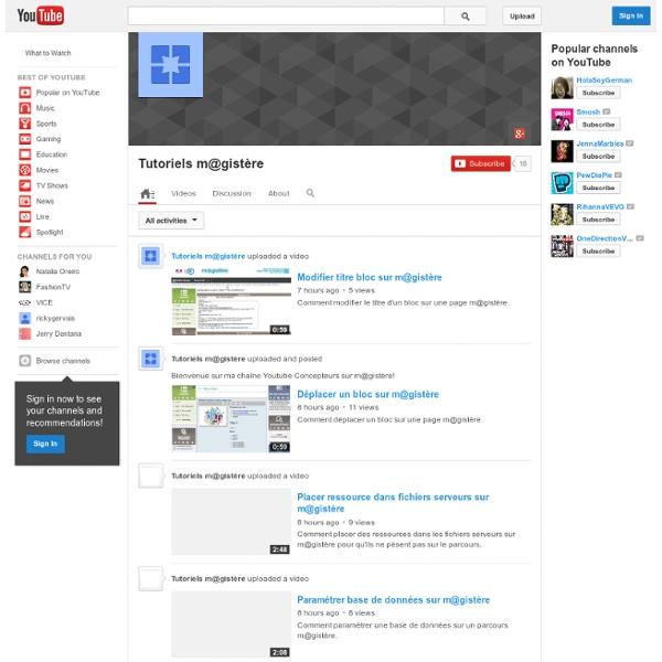 Chaîne Youtube Tutoriels m@gistère - Claire Marotine - Reims