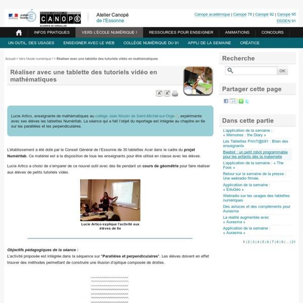 Réaliser des tutoriels vidéo en mathématiques - Académie de Versailles