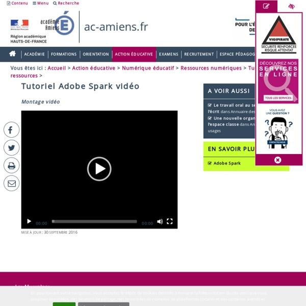 Tutoriels des ressources > Tutoriel Adobe Spark vidéo
