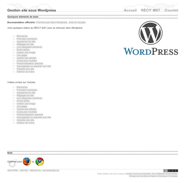 Tutoriels Wordpress